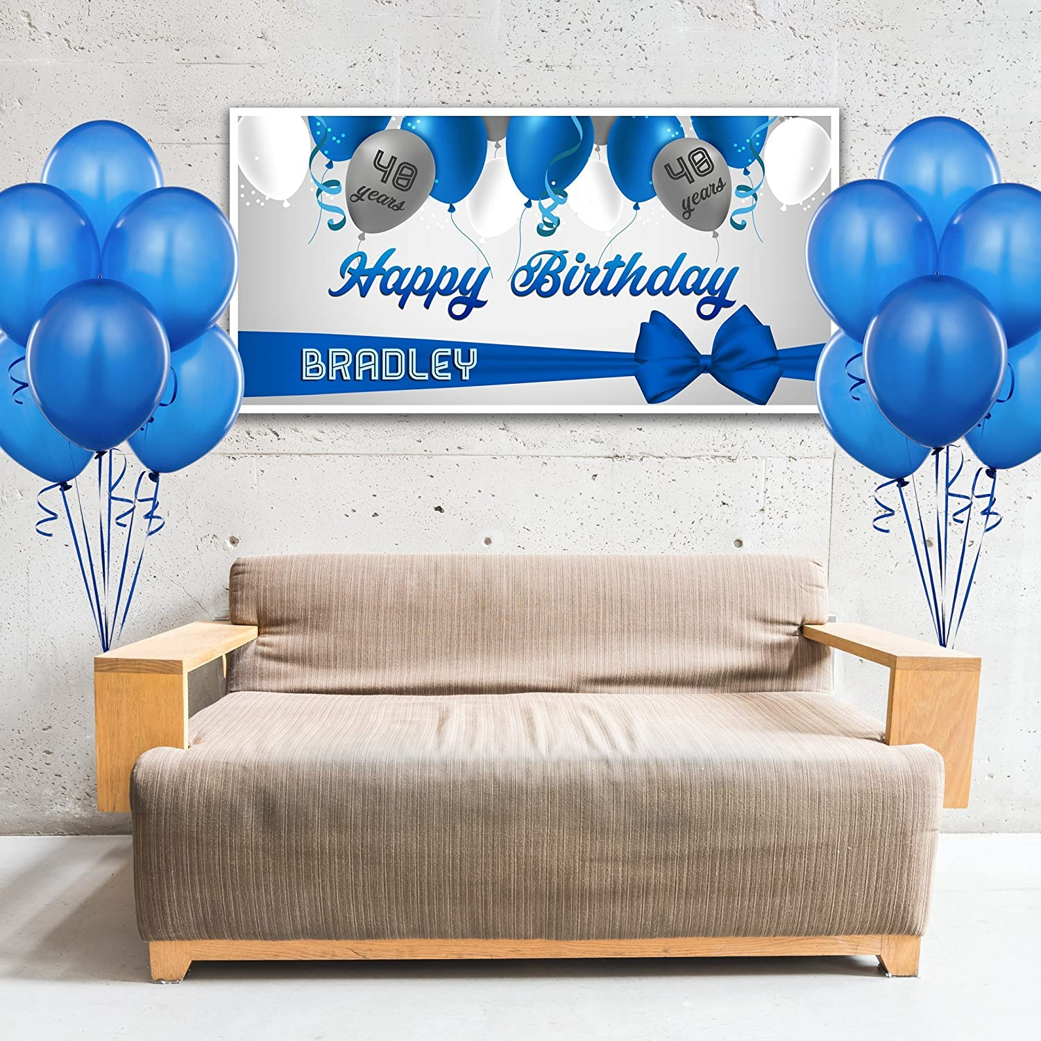 Balloons Birthday Banner Party Backdrop Decoration