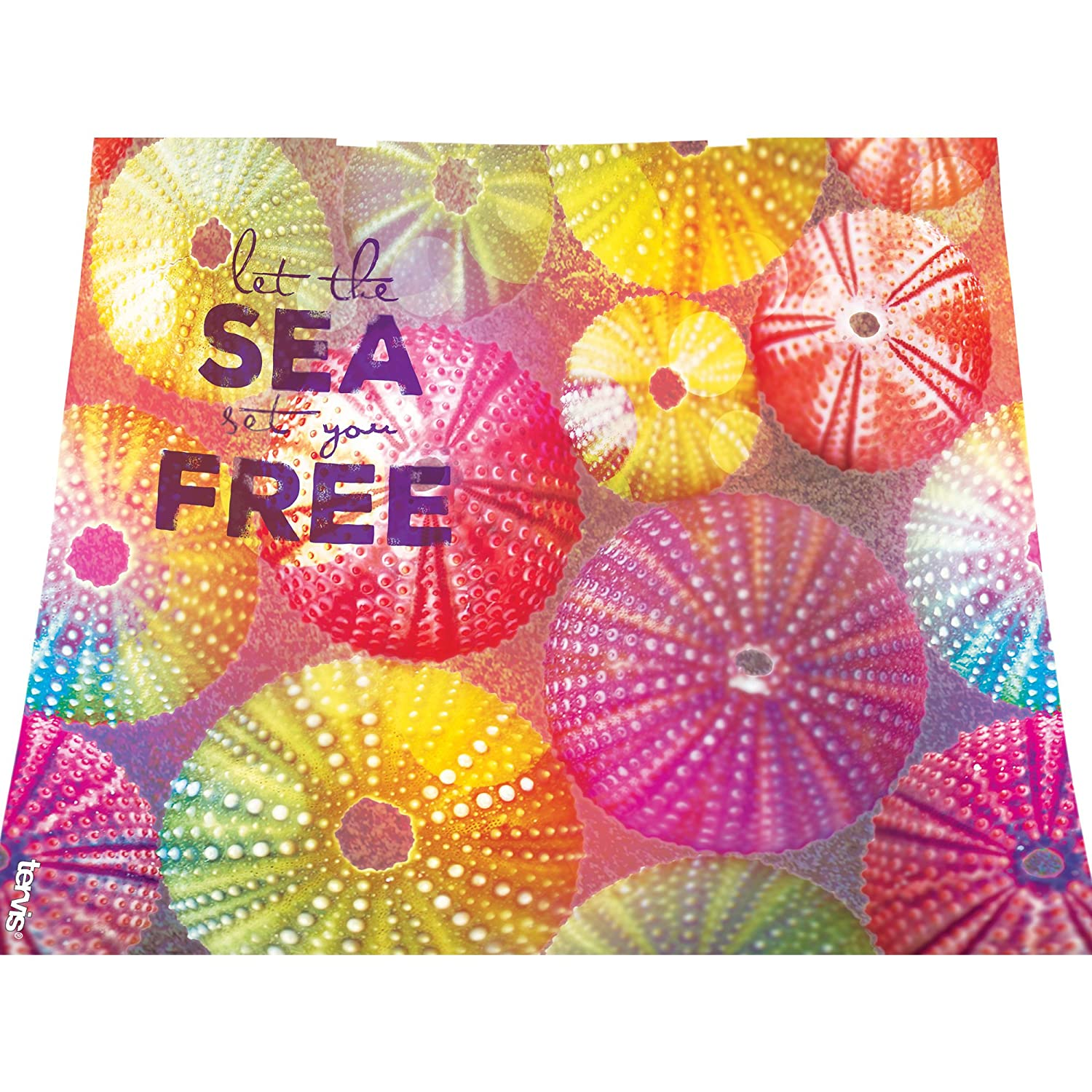 Tervis Let The Sea Set You Free Wrap Clear Inner Water Bottle with Grey Lid 24 oz