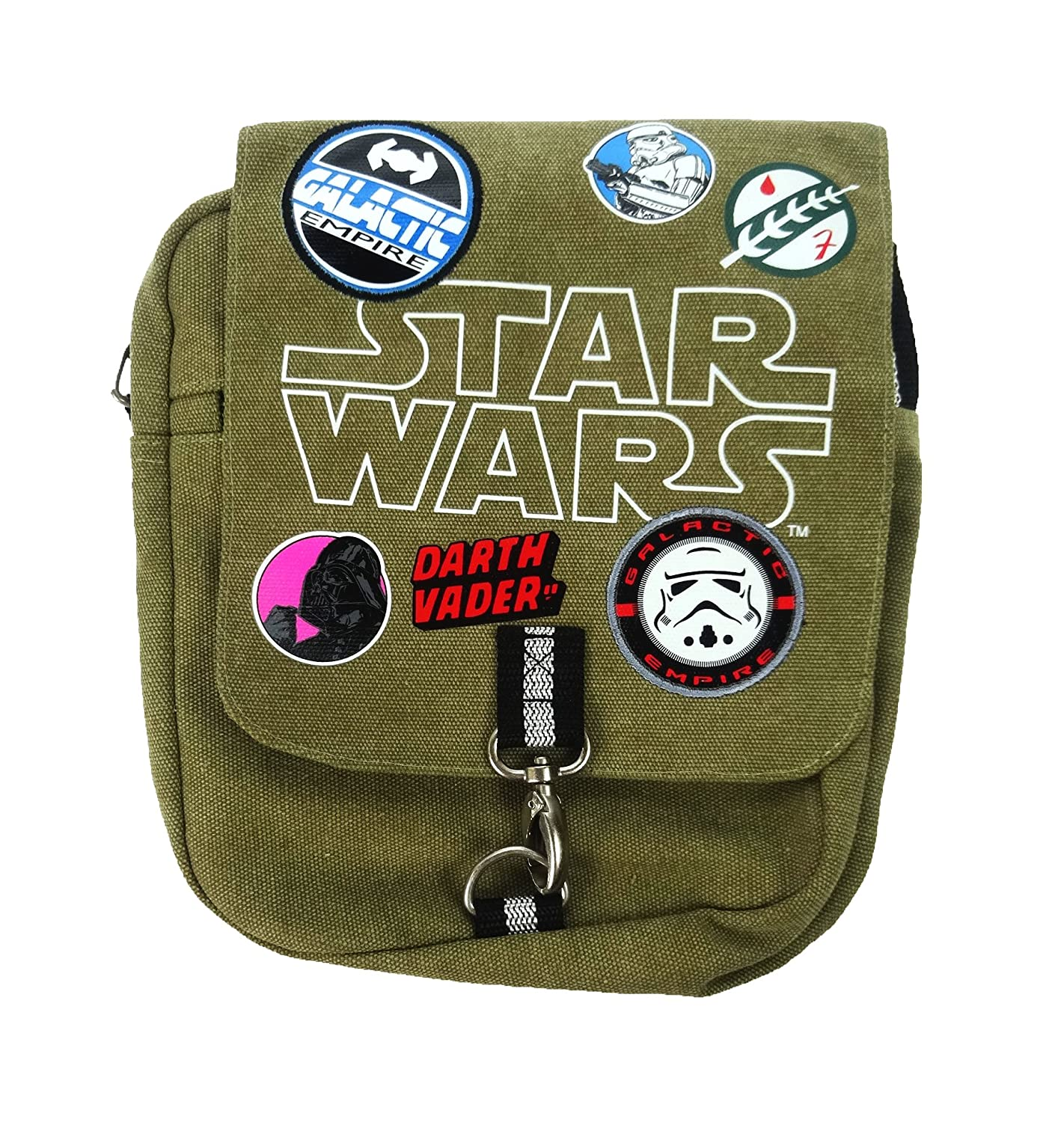 Star Wars Cross Body Bag M/ünzb/örse Gr/ün 25 cm Khaki