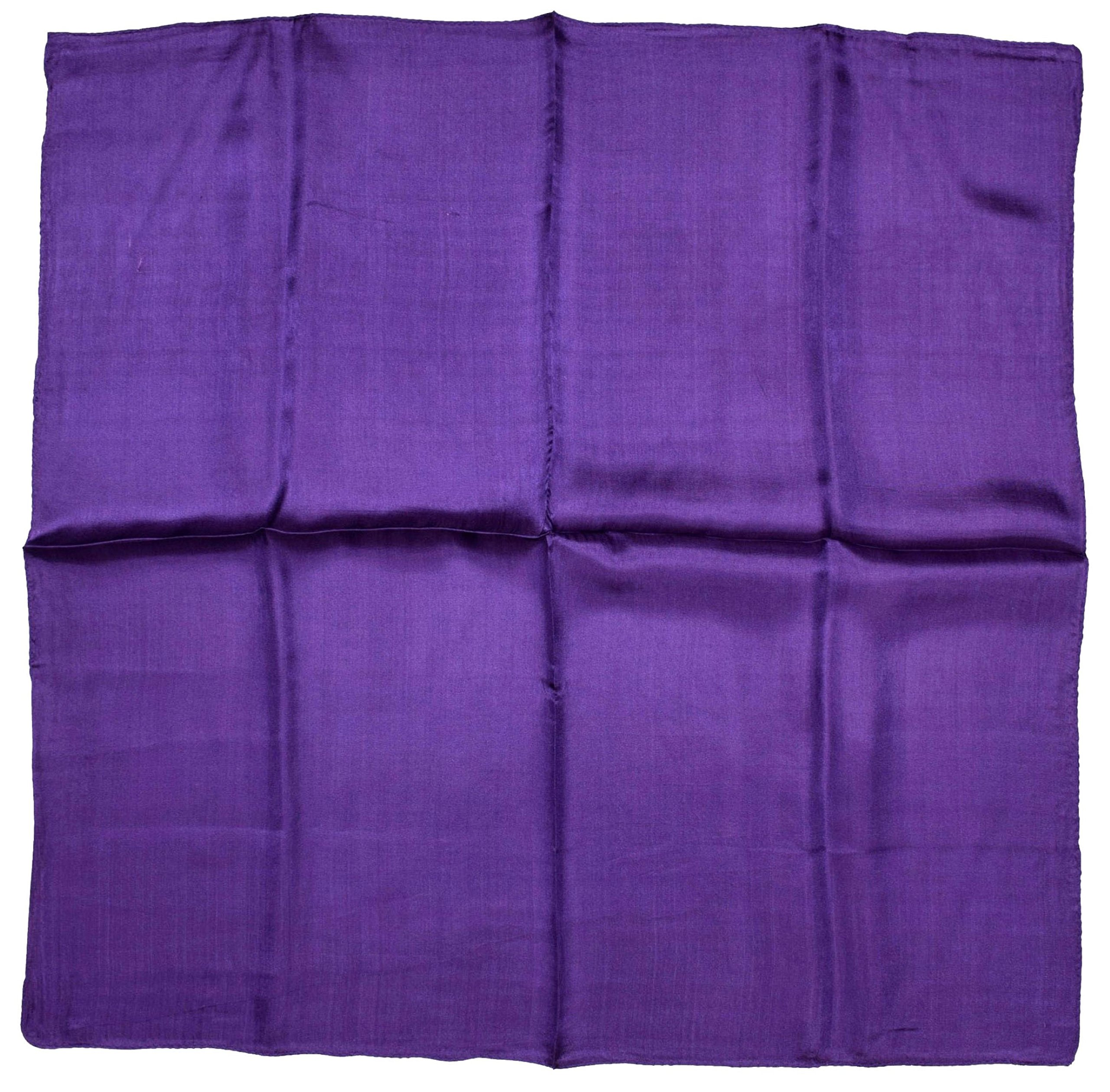 Deep Purple Small Fine Silk Square Scarf by Bees Knees Fashion (Image #2)