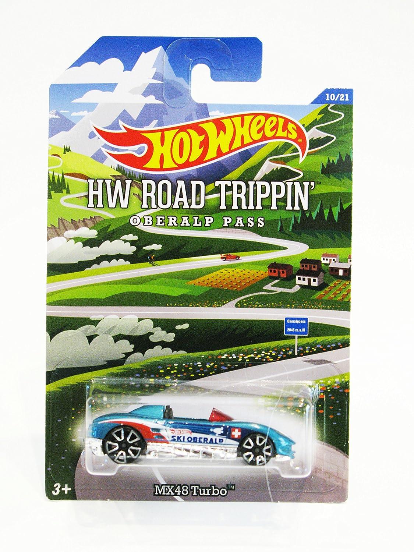 Amazon.com: 2015 Hot Wheels HW Road Trippin MX48 Turbo #10/21 (Mtflk. Teal) (TRAP5 Wheels) in Protecto Pak: Beauty