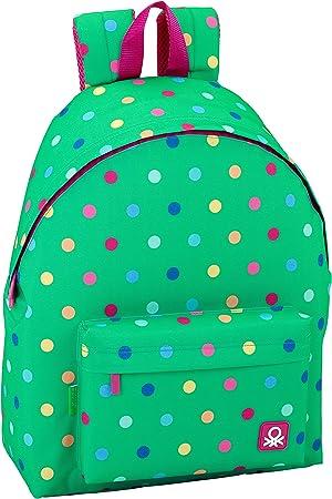 Safta Mochila juvenil Day Pack Ucb Dots Green Oficial ...