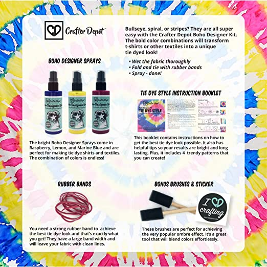 Amazon Crafter Depot Tie Dye Kit Includes Yellow Blue And Red