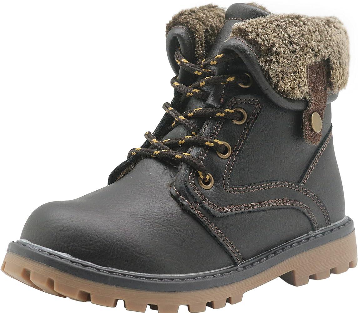 Toddler//Little Kid Apakowa New Boys Winter Martin Snow Boots