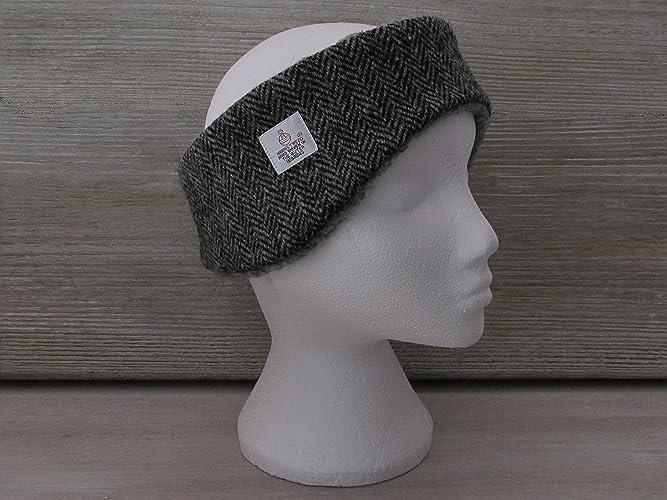 Harris Tweed Grey Herringbone Luxury Ear Warmer Headband  Amazon.co ... 46b2e9d06d4