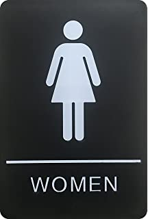 Womens Braille Restroom Sign