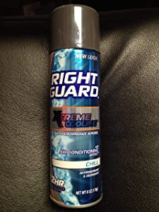 "PACK OF 6! Right Guard Xtreme Cooling ""Chill"" Spray Antiperpirant & Deodorant 6oz EACH"