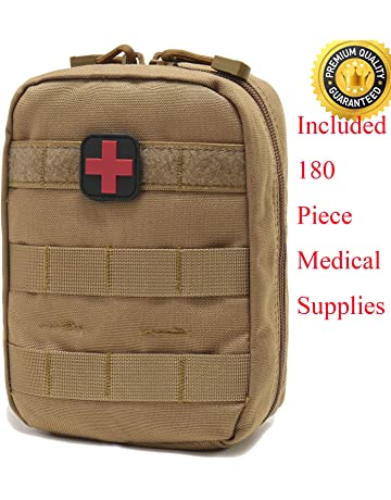 Carlebben EMT Pouch MOLLE Ifak Pouch Tactical MOLLE Medical First Aid Kit Utility Pouch