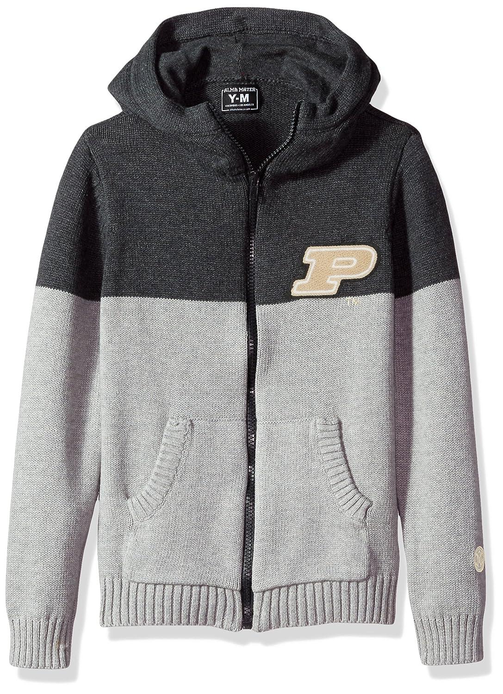 Dark Grey//Light Grey Large Alma Mater NCAA Purdue Boilermakers Boys Color Block Cardigan