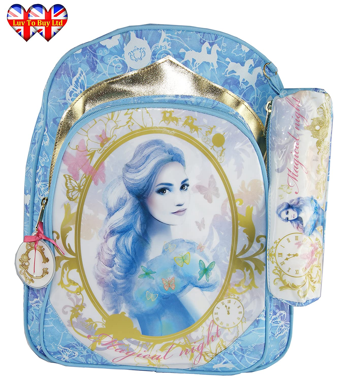 Luxury Cinderella Backpack+Pencil Case,Rucksack Officially Licensed Backpack
