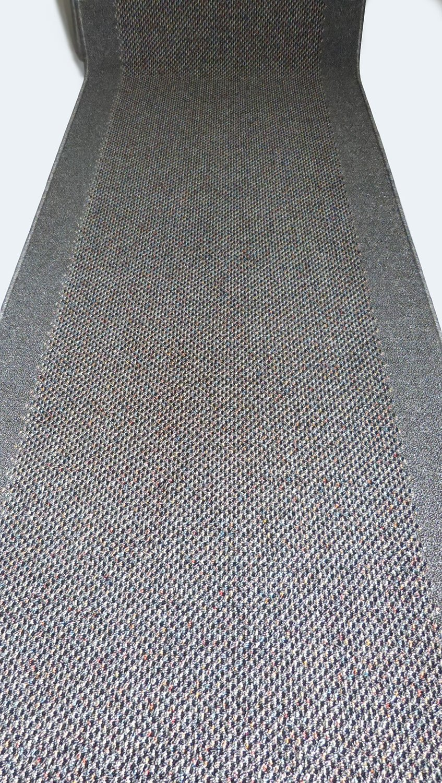 Teppich Läufer auf Maß rutschfest Stufenmatten Grau lfm. 29,90 Euro Breite 100 x 640 cm
