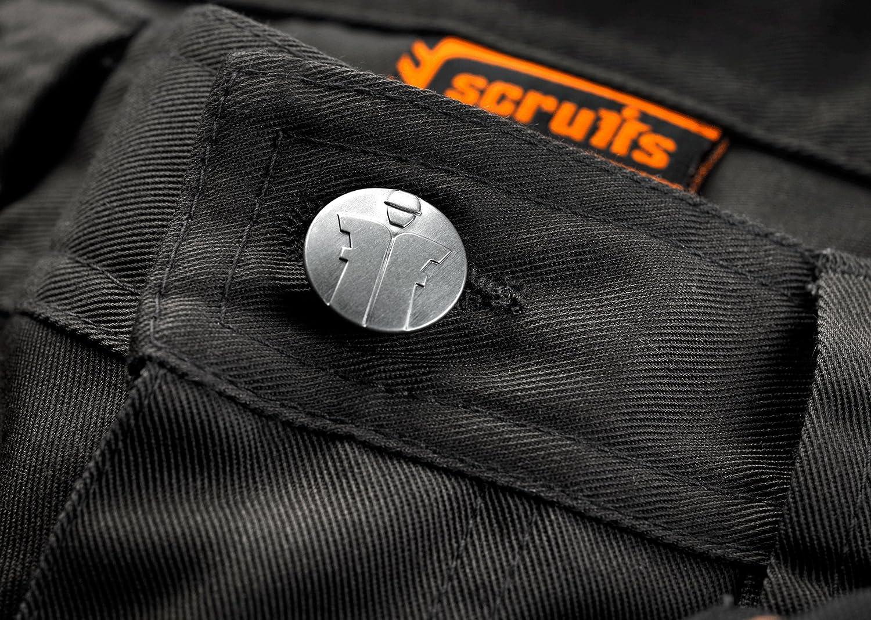 /Set di 2/Pantaloni di lavoro in Cordura 3d con ginocchiere Scruffs/