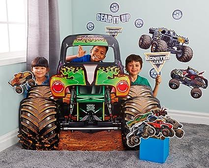 amazon com birthdayexpress monster jam room decorations cardboard