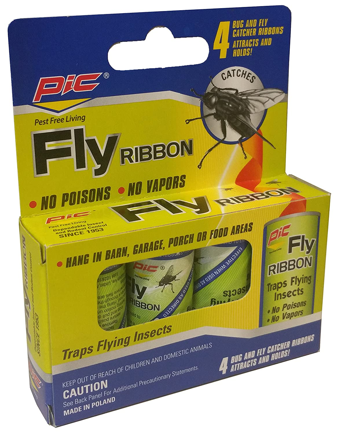 Pic Fly Ribbon Bug Insect Catcher 4 Pack Flytrap Robots Can Hunt And Catch Bugs For Meals Traps Garden Outdoor