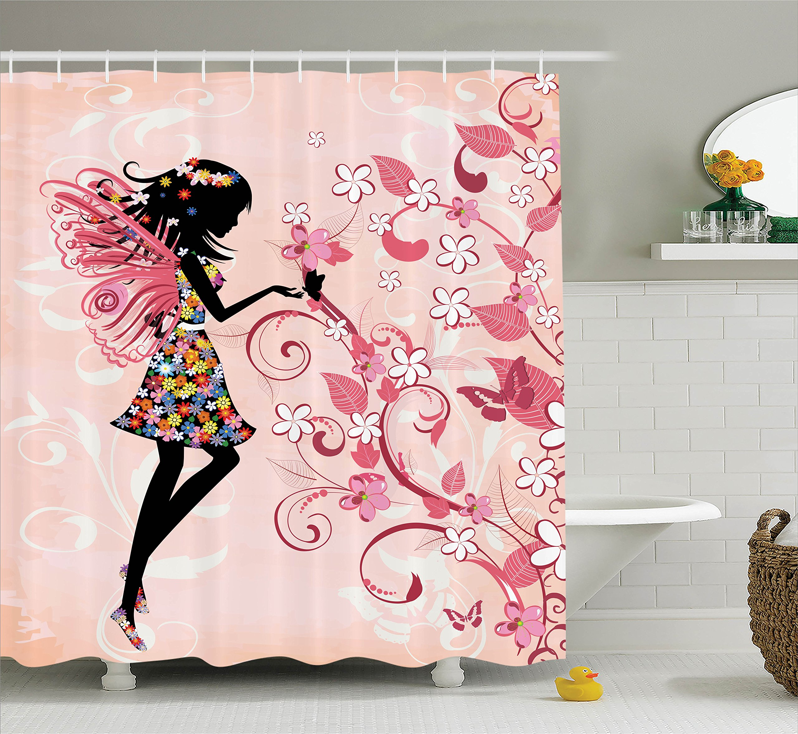2f8049d1e2824 Ambesonne Girls Shower Curtain Fairy Decor