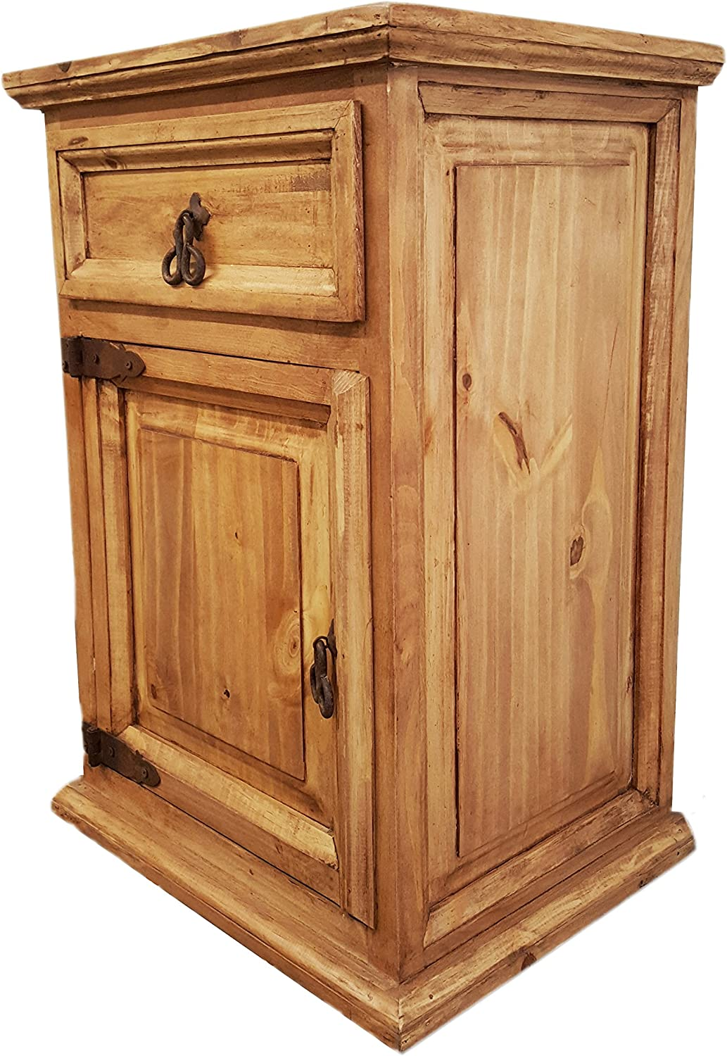 Decorative York Town Night Stand with Drawers Treasure Chest Trunk