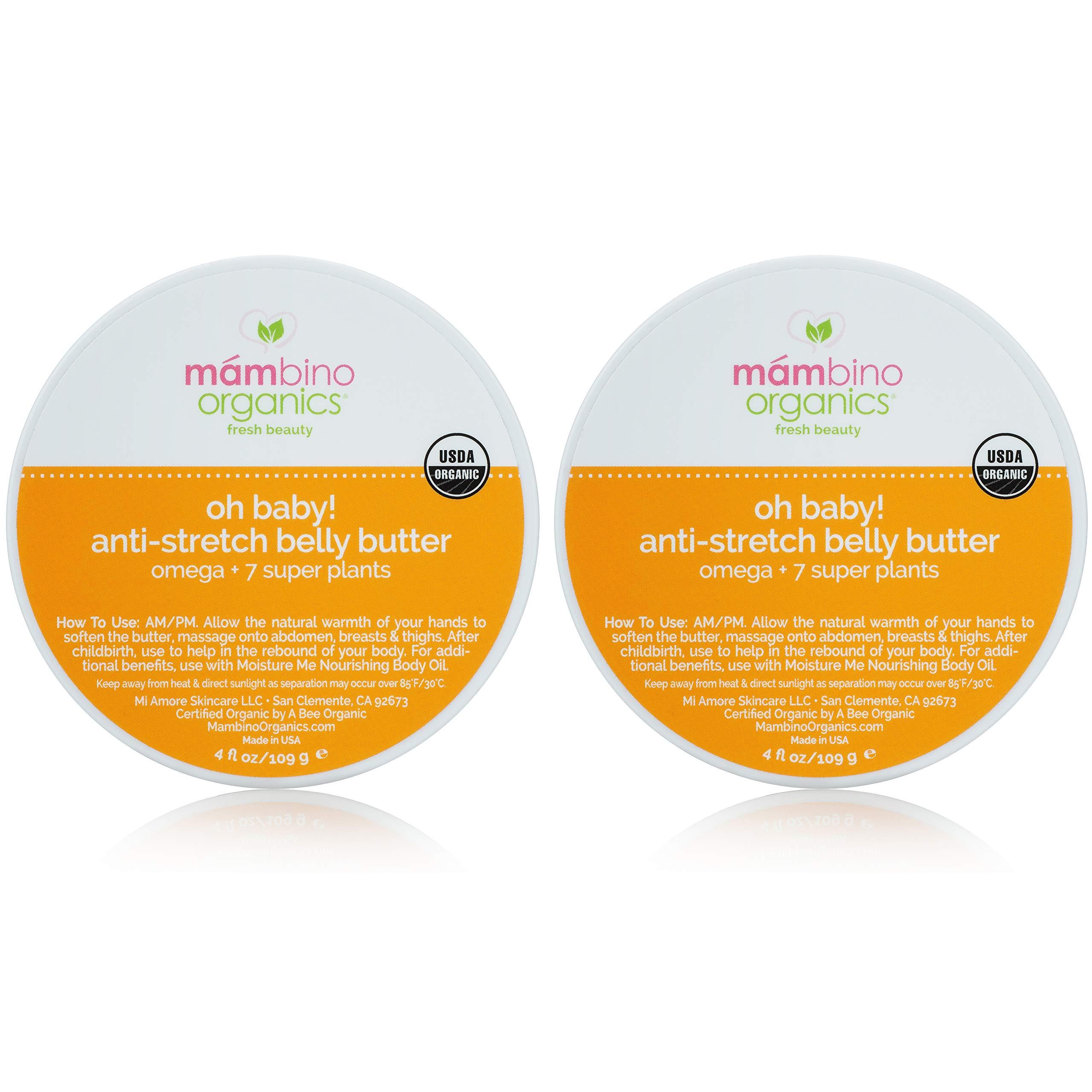 Mambino Organics Belly Butter (4oz 2-Pack)