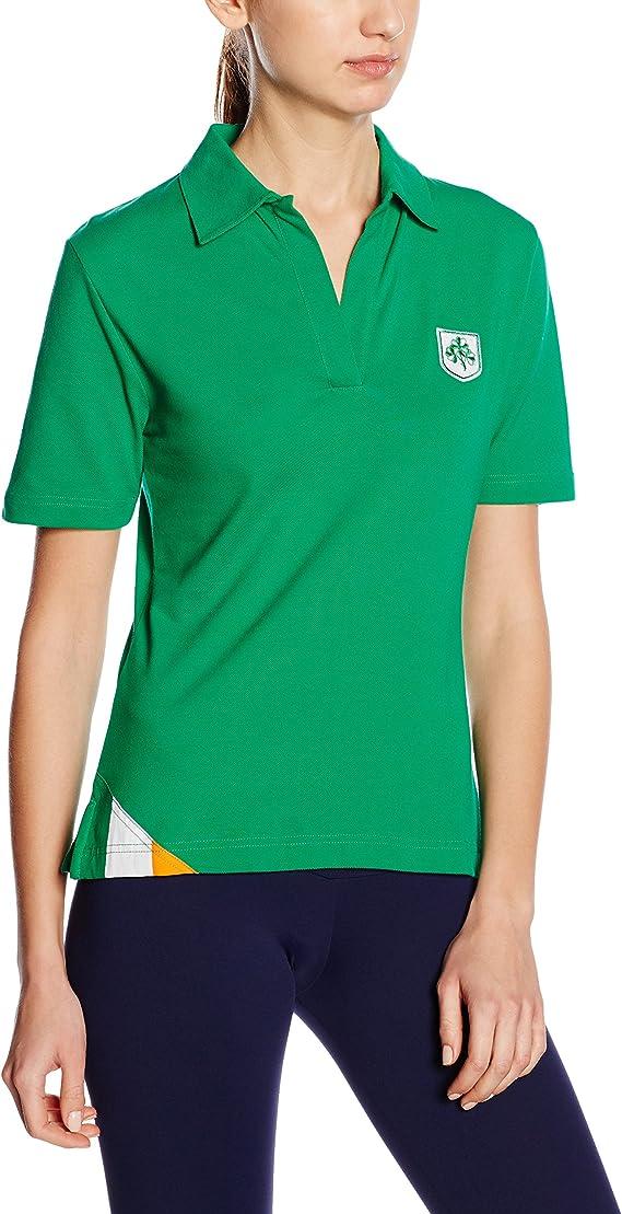 3 for a Girl - Camiseta polo de rugby para mujer (bandera de Irlanda): Amazon.es: Ropa y accesorios