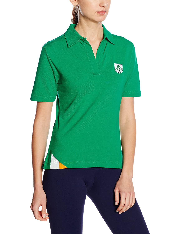 3 for a Girl - Camiseta polo de rugby para mujer (bandera de ...