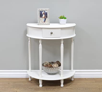 Frenchi Home Furnishing Canterbury End Table In White