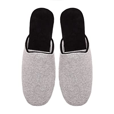 PABLO Mens Cashmere Slippers Grey | Slippers