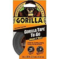 Gorilla Tape, mini-kanaaltape voor weg, zwart, 9 m x 25 mm reisformaat (pak van 1)