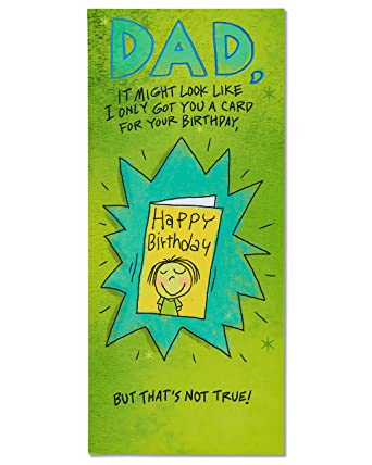 Amazon American Greetings Funny Birthday Card For Dad With Foil
