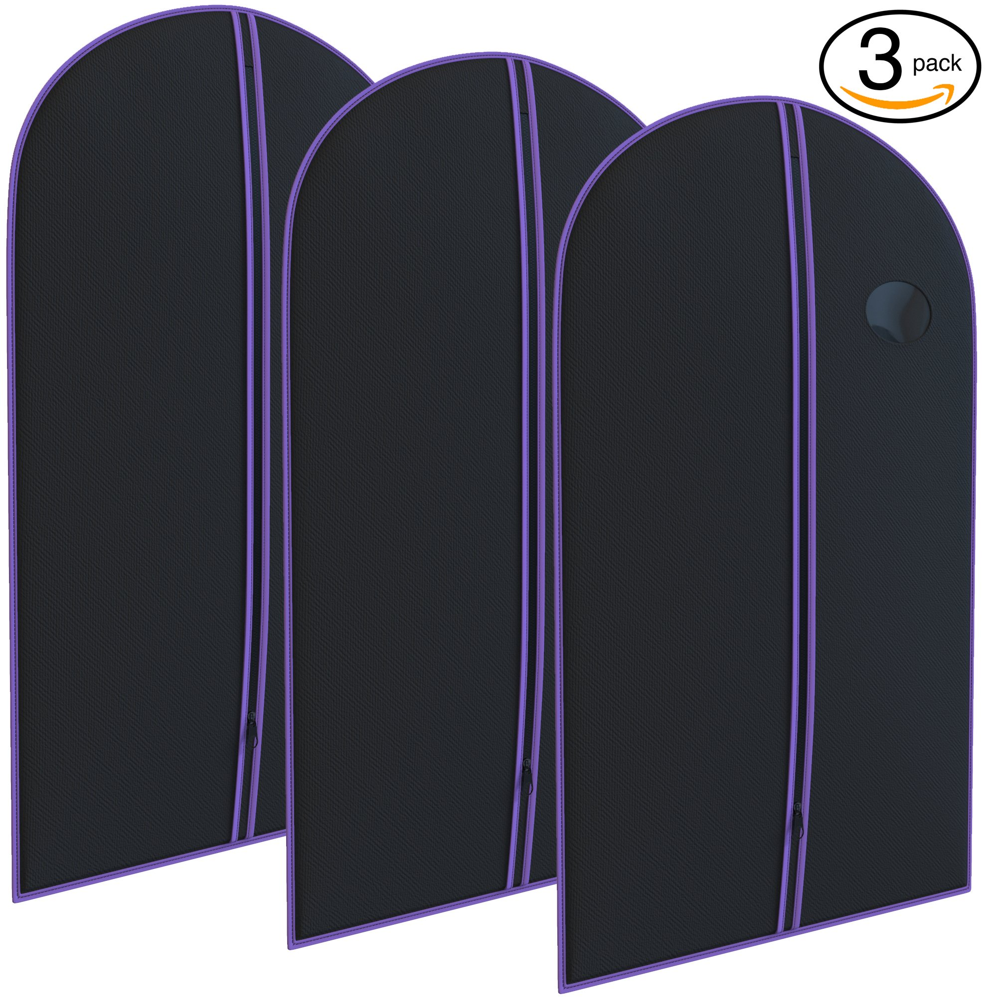 Purple Suit Garment Travel Bags 3 Pack - 40'' X 24'' - By Your Bags