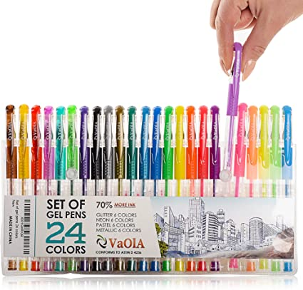 Colored Gel Pens Set For Kids For Girls For Adult Coloring Glitter Metallic Sparkly Jell Pens Spirograph Set Pens Arts And Crafts For Girls