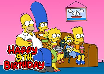 Excellent The Simpsons Birthday Cake Personalized Cake Topper Icing Sugar Funny Birthday Cards Online Alyptdamsfinfo