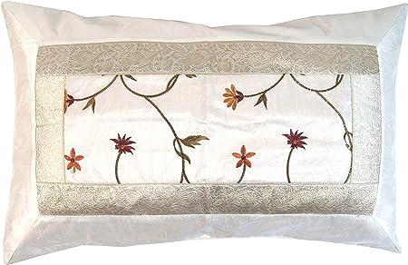 Motif Vert Fonc/é 1 Coussin D/écoratif Coussin de Canap/é Coton Housse de Coussin Guru-Shop Housse de Coussin en Brocart Velours Oriental Coussin D/écoratif 40x40 cm