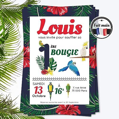 Lot 12 Invitations Anniversaire Fille Ou Garcon Originale Tropical