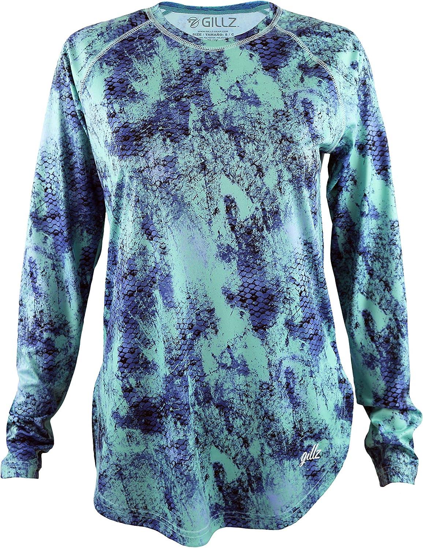 Gillz Women/'s Turtle AOP UV Long Sleeve Shirt
