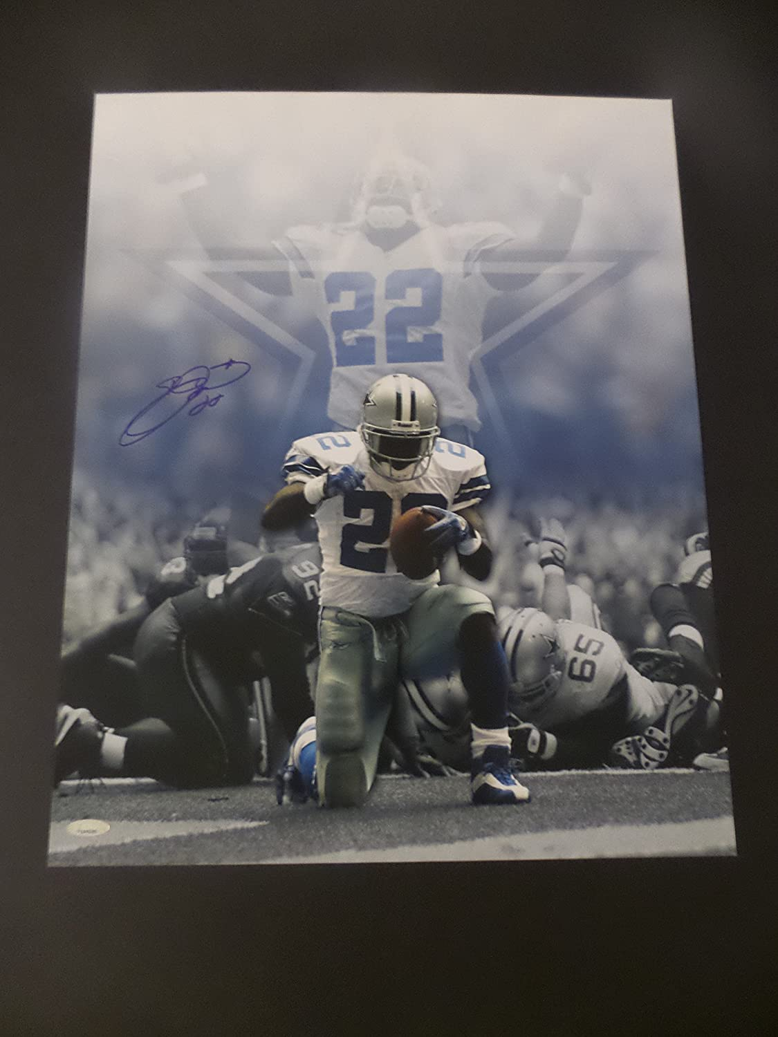 a7048b4048e4 Emmit Smith Dallas Cowboys Autographed 16x20 Photograph at Amazon s Sports  Collectibles Store