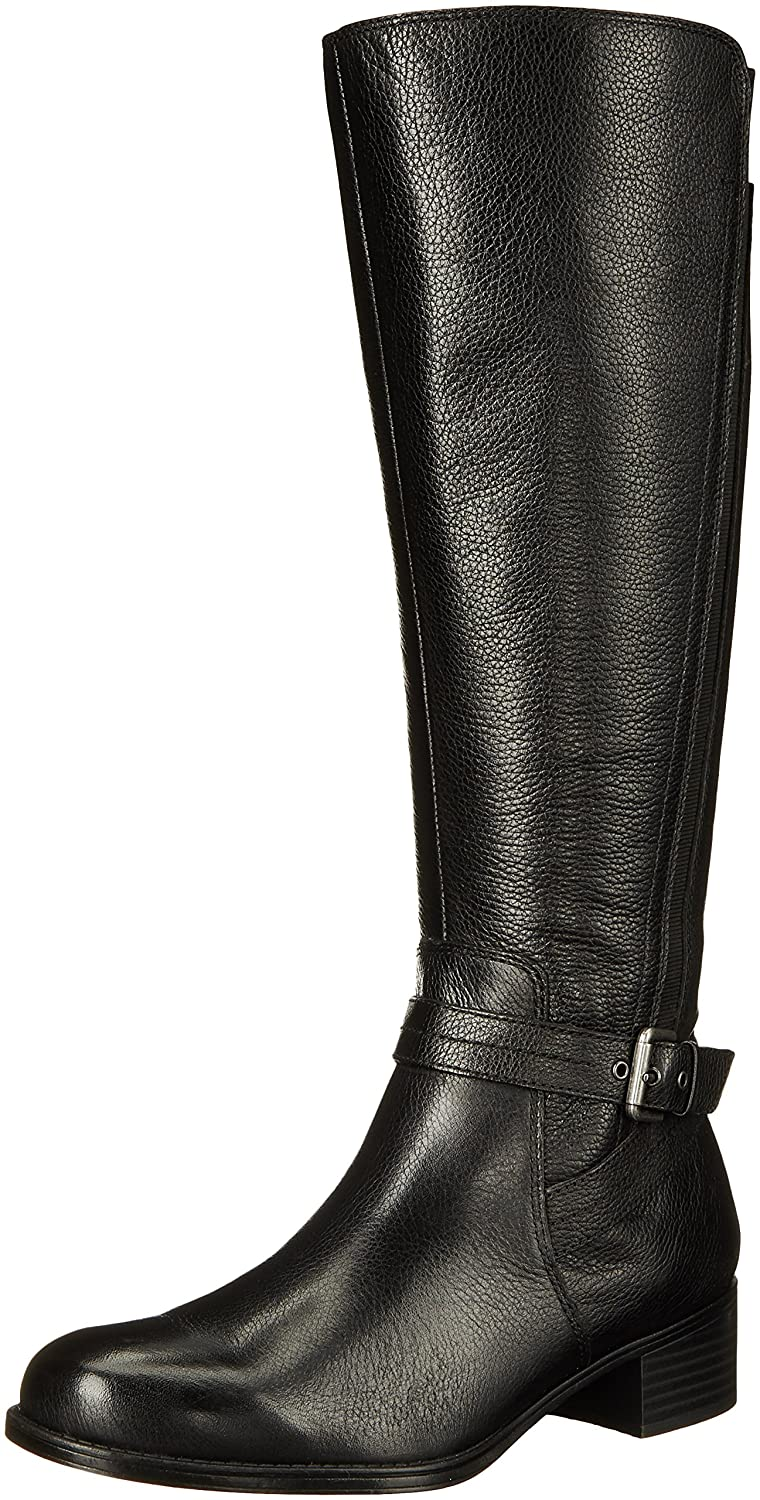 Naturalizer Women's Wynnie Riding Boot B01BUH8NQO 8 W US|Black