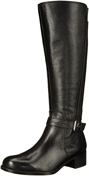 Naturalizer Women's Wynnie Riding Boot, Black, 6 M US