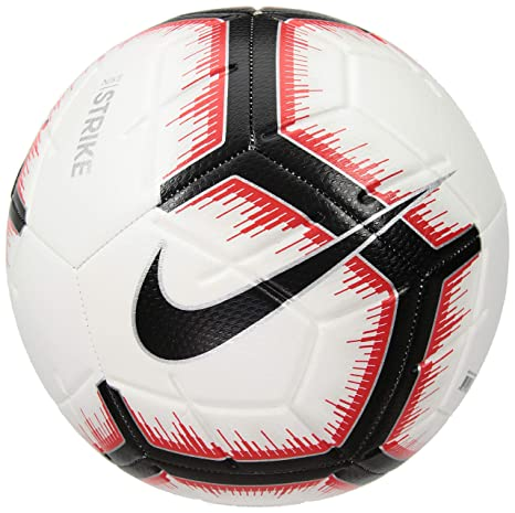531d0dcde3c Amazon.com : Nike 2018-2019 Strike Soccer Ball (White/Bright Crimson ...