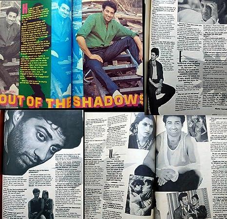 Movie June 1988 Sanjay Dutt Sunny Deol Poonam Dhillon Aamir Khan Farha Shammi Kapoor Smita Patil Kamal Haasan - India Bollywood Magazine at Amazons ...