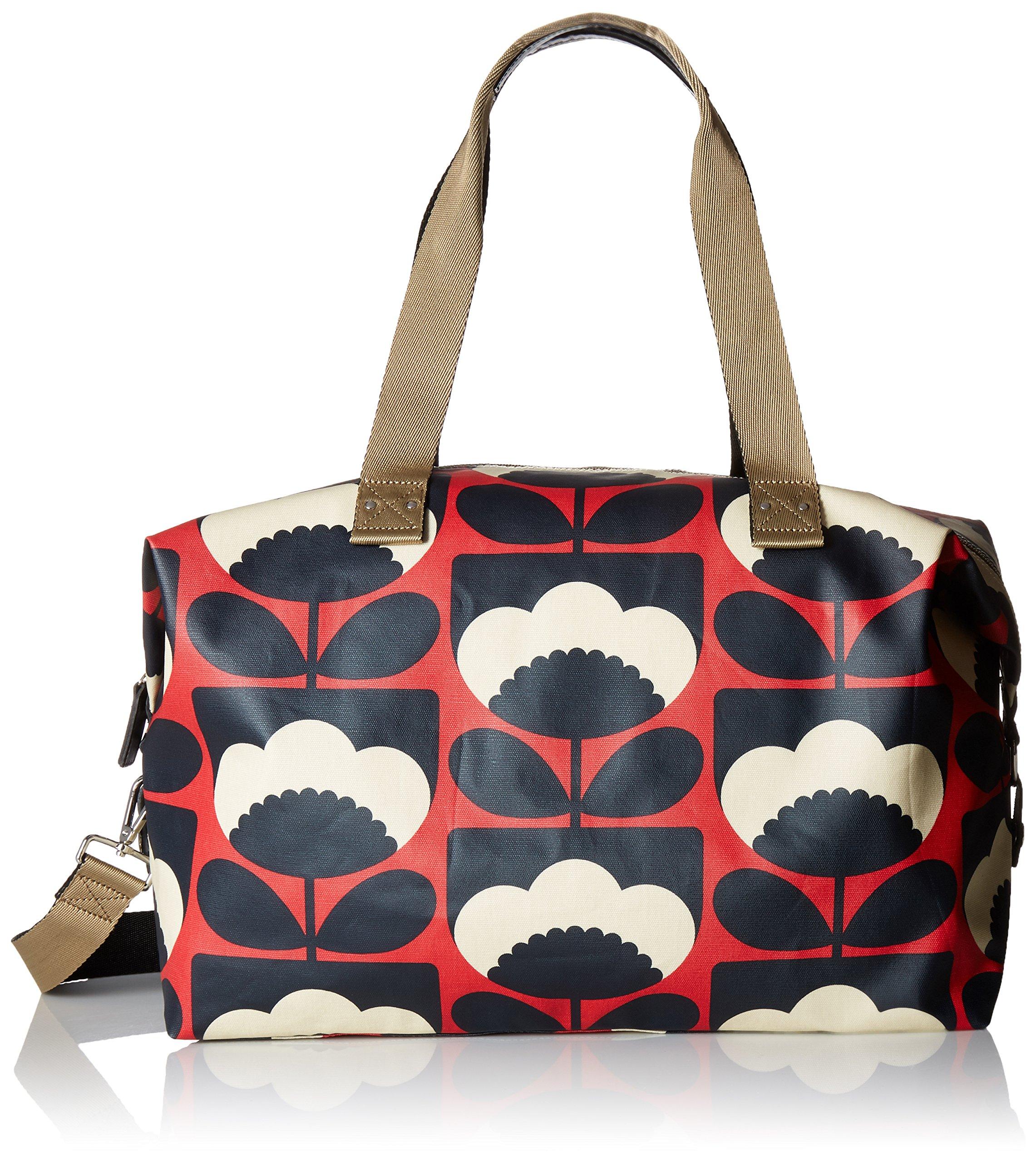 Orla Kiely Women's Spring Bloom Zip Holdall, Poppy