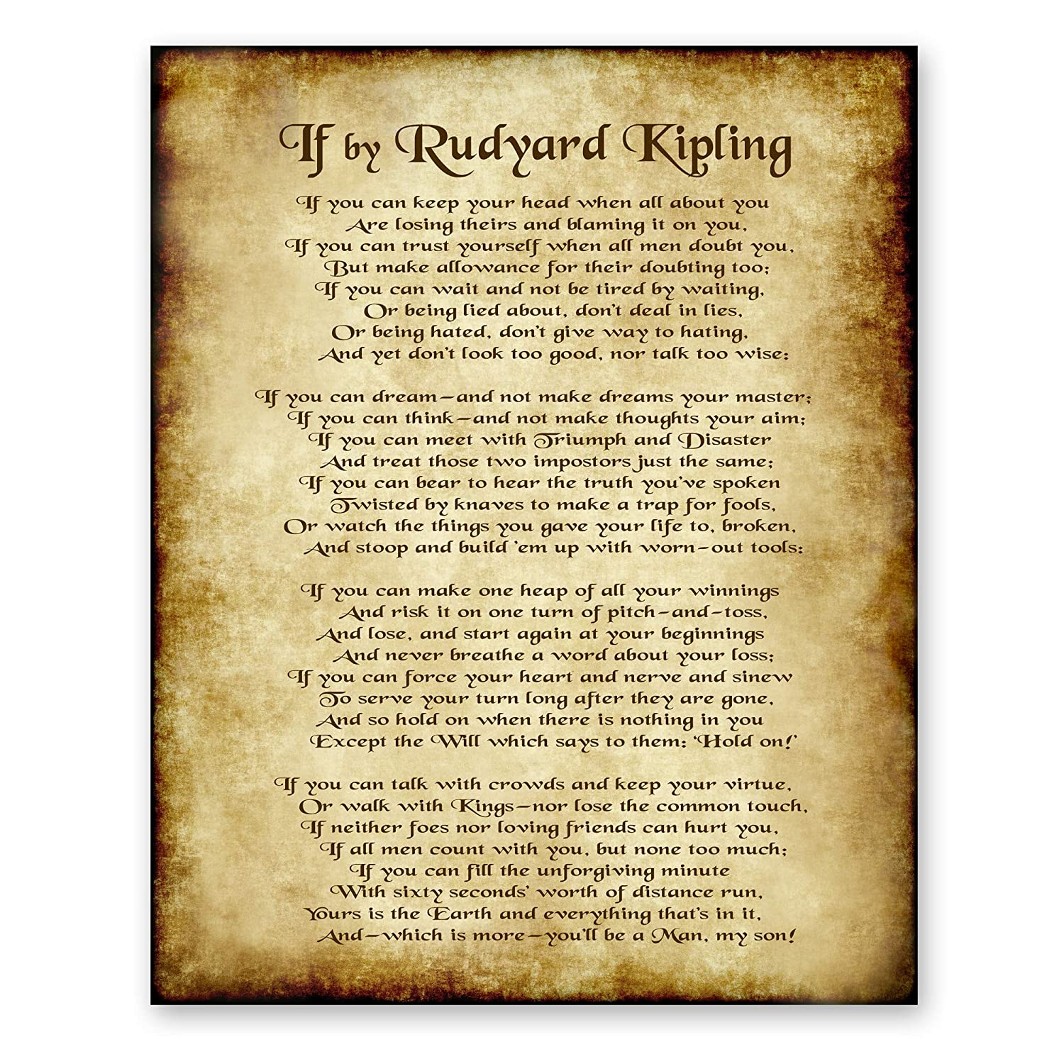 if by rudyard kipling theme