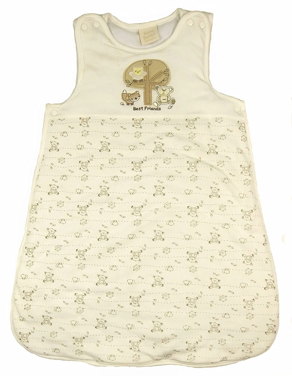 Bebe Bobito Sleeping Bags 2.5 Tog Soft Cotton Jersey (Off White Ditsy Mouse, 6-12 Months) Bebe Bonito