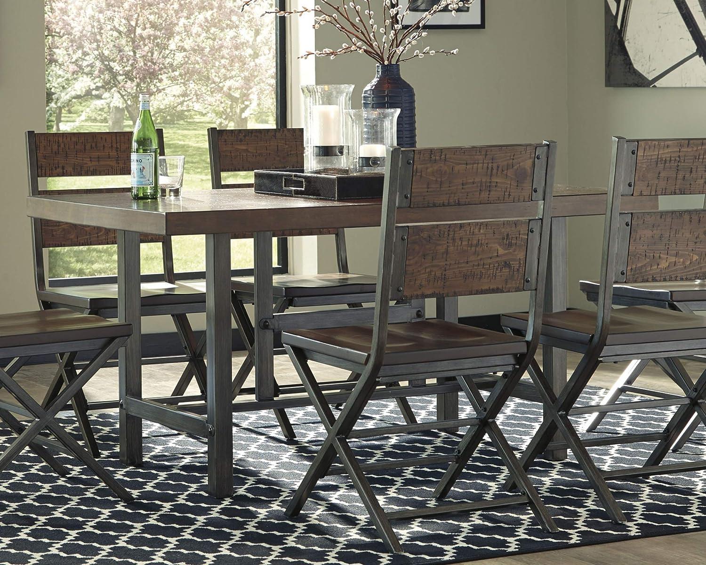 Signature Design By Ashley – Kavara Rectangular Dining Room Table – Casual Style – Medium Brown