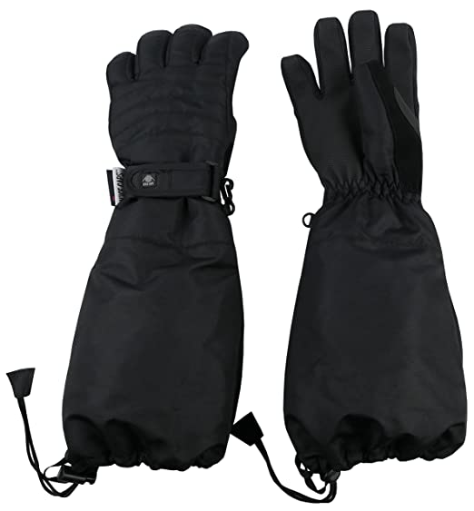 N Ice Caps Little Kids 100 Gram Thinsulate Elbow Length Waterproof Snow  Gloves (Black 79844d70b0d8