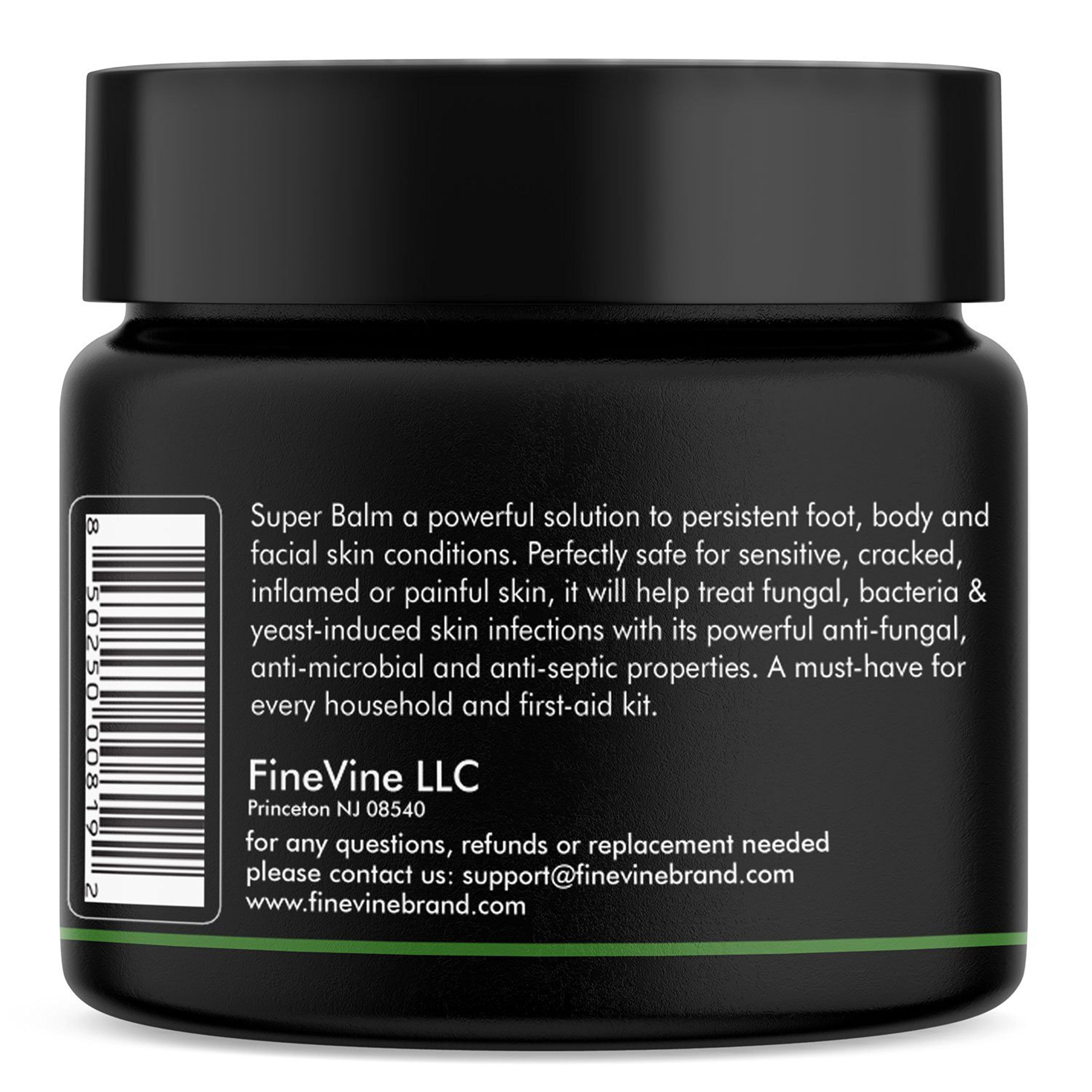 Antifungal Balm - Made in USA - Helps Treat Eczema, Ringworm, Jock Itch, Athletes Foot and Nail Fungal Infections - Best Natural Ointment to Soothes Itchy, Scaly or Cracked Skin. by FineVine (Image #1)