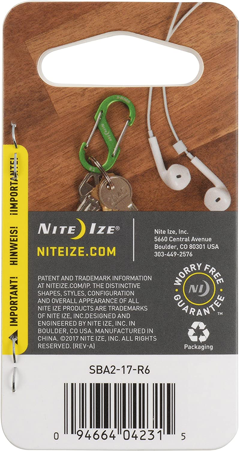 Nite Ize SB234-03-11 S-Biner Dual Carabiner Stainless Assorted