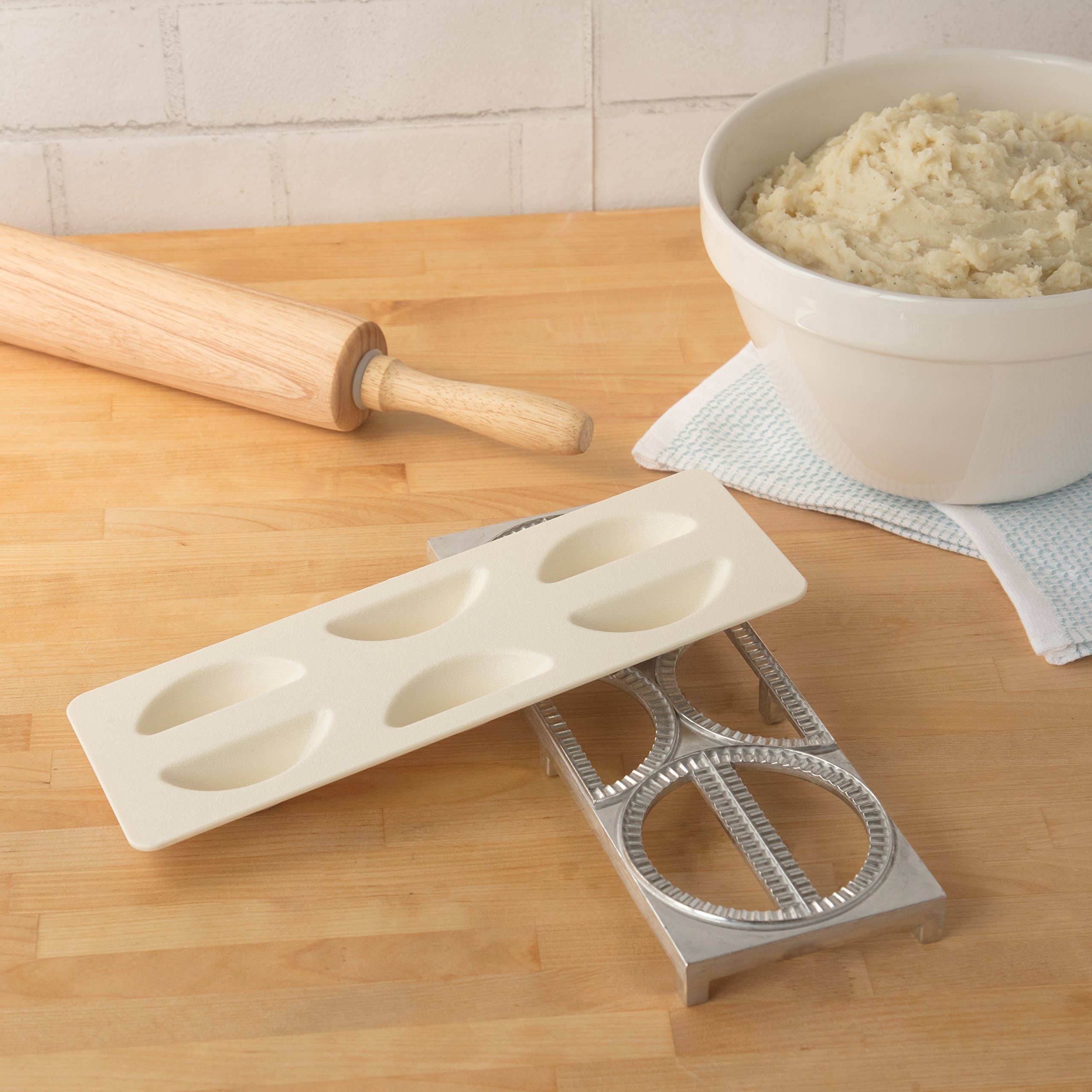 Pierogi Maker by Cucina Pro - Includes Tray and Press - Makes 6 Dumplings, Potstickers, or Peirogis at  a time by CucinaPro (Image #2)