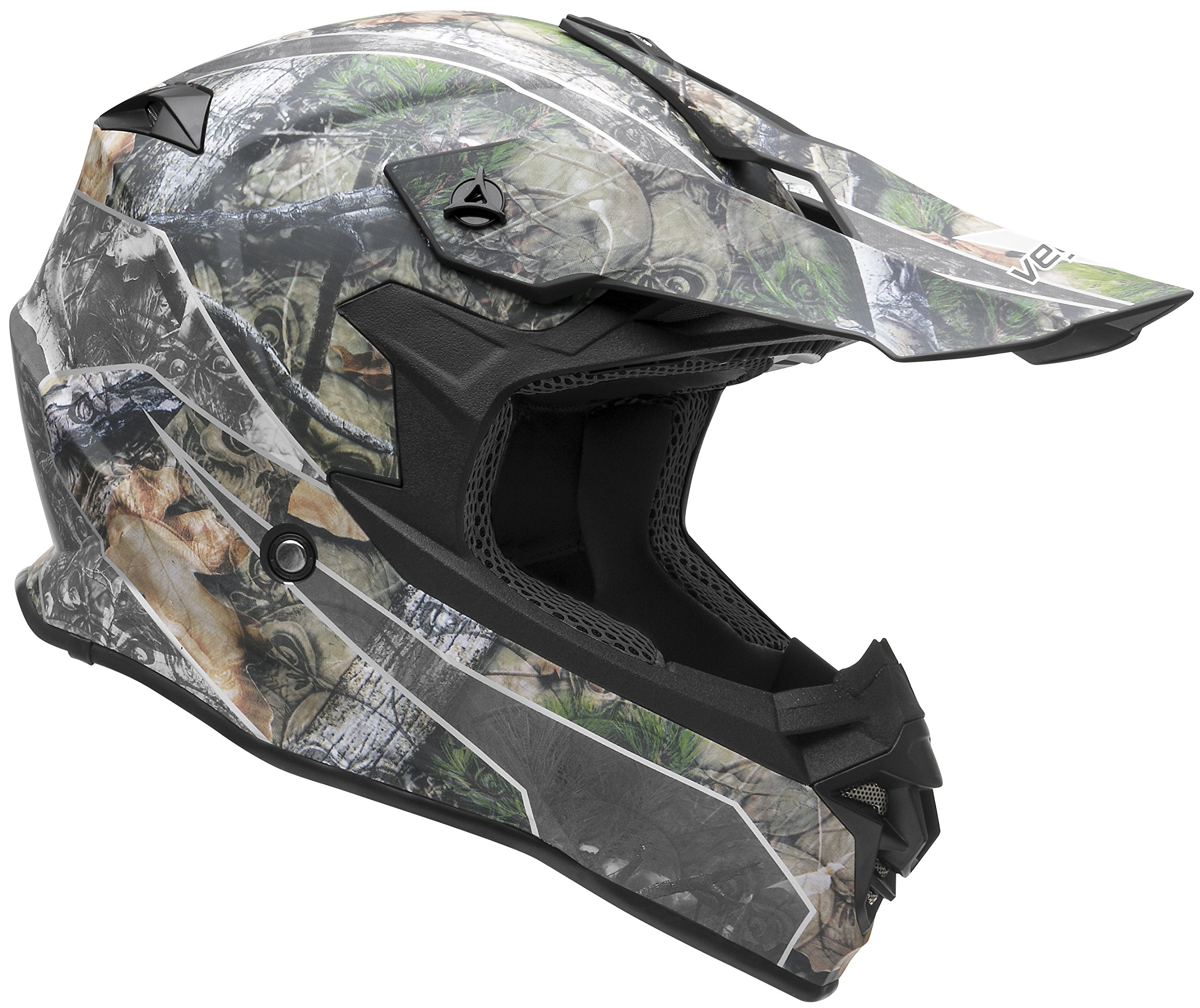 Vega Helmets VF1 Lightweight Dirt Bike Helmet – Off-Road Full Face Helmet for ATV Motocross MX Enduro Quad Sport, 5 Year Warranty (Skull Camo, X-Large) by Vega Helmets