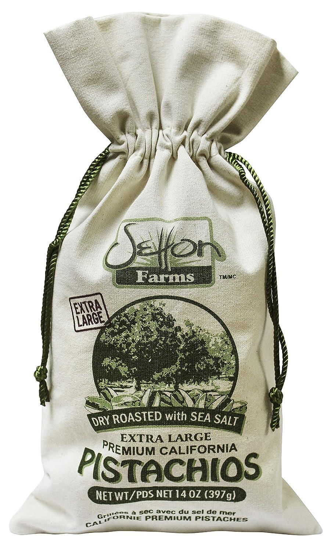 Setton Farms Roasted and Salted Extra Large Premium California Pistachios, Sea Salt, Dry Roasted w/ Sea Salt, 14 Ounce