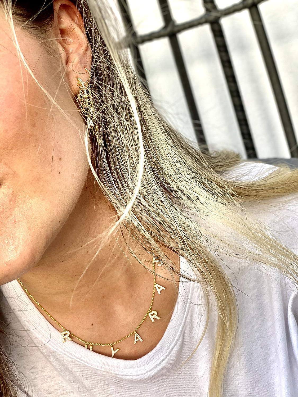 Damen Halskette 925er Silber vergoldet I Erstellen Sie Ihr eigenes Set I Hochwertiger personalisierter Schmuck im zeitlosen und schlichtem Design I Geschenke f/ür Frauen