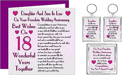 18 Anniversario Di Matrimonio.Set Regalo Per 18 Anniversario Di Matrimonio Per Figlia E Figlio